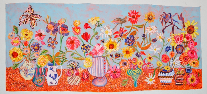 ARTHOUSE Meath big bright floral an original group artwork