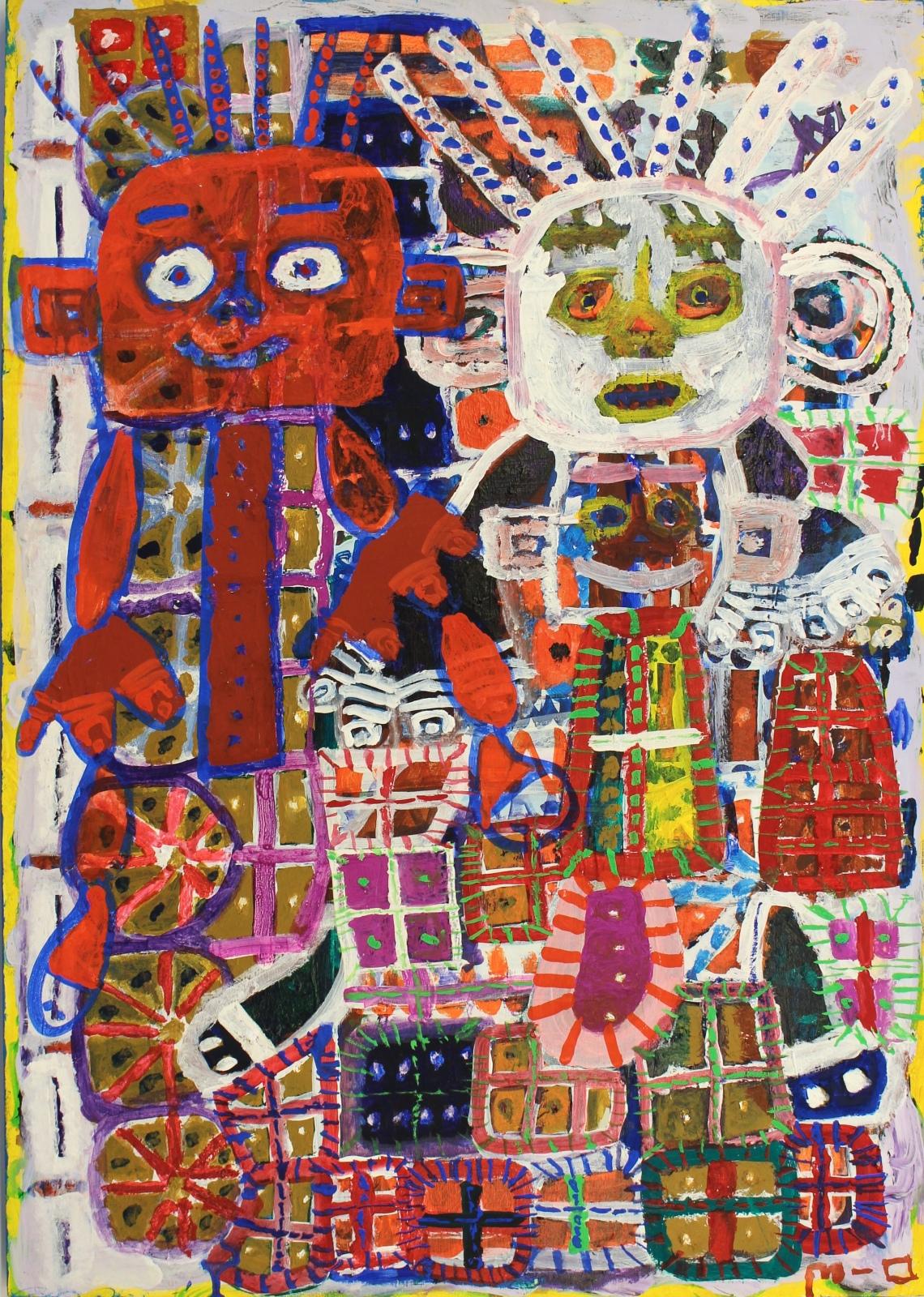 Makoto Okawa, Red Man and White Man, 2007, 72 x 52 cm