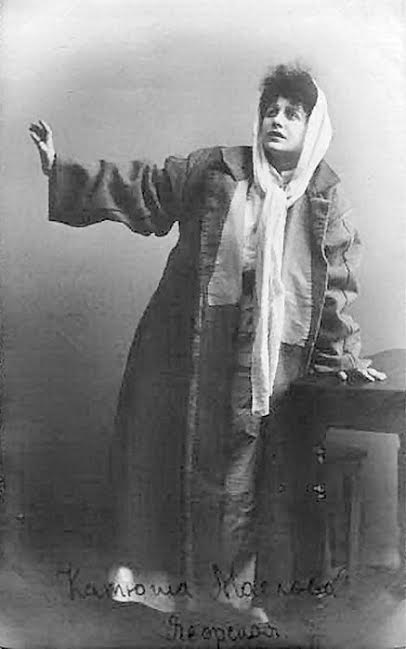 Lydia as Ekaterina in Tolstoy's play 'Resurrection'