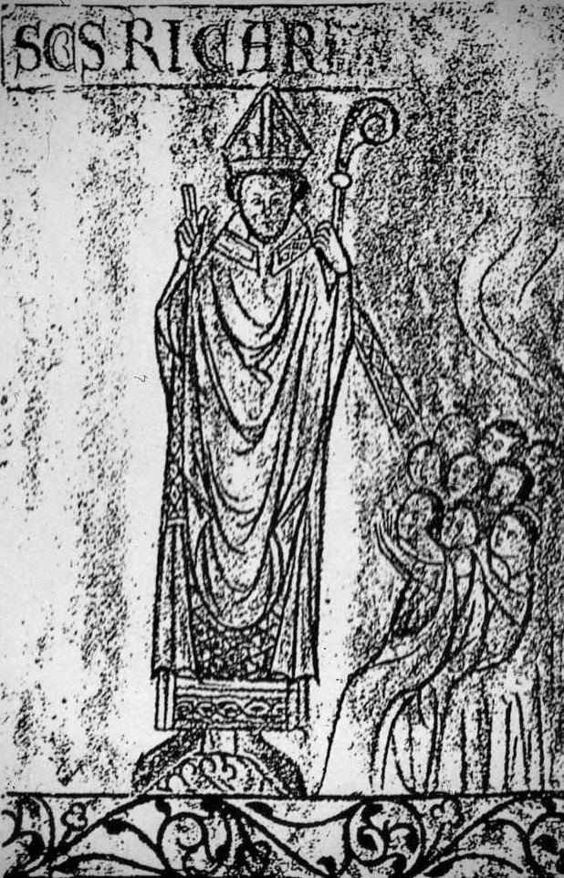 13th century wall painting of Saint Richard of Chichester