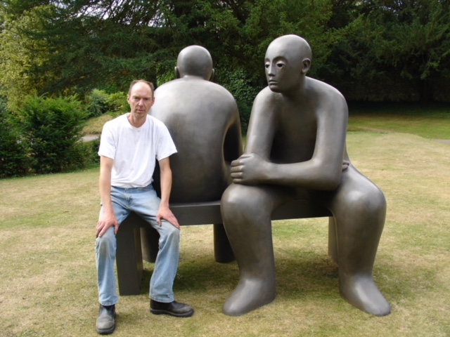 2006 Giles Penny with Two Men on a Bench in Castle