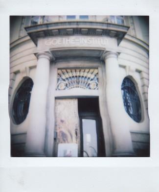 Polaroid - Prague, March 2019 - 2 - Entrance to Goethe-Institute