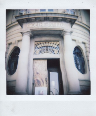 Polaroid - Prague, March 2019 - 2 - Entrance to Goethe-Institute