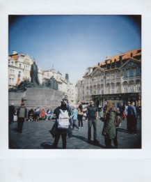 Polaroid - Prague, March 2019 - 4 - Old Town Square, Statue