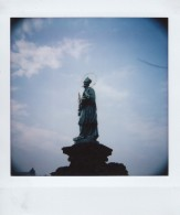 Polaroid - Prague, March 2019 - 8 - Saint Statue on Charles Bridge