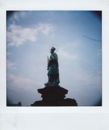 Polaroid - Prague, March 2019 - 8 - Saint Statue on Charles Bridge