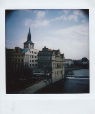 Polaroid - Prague, March 2019 - 9 - View from Charles Bridge